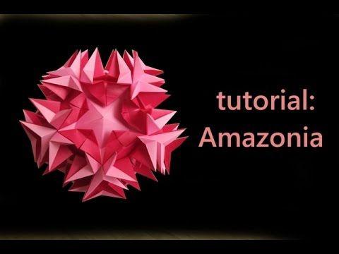 kusudama - modular origami - amazonia - tutorial - dutchpapergirl - YouTube