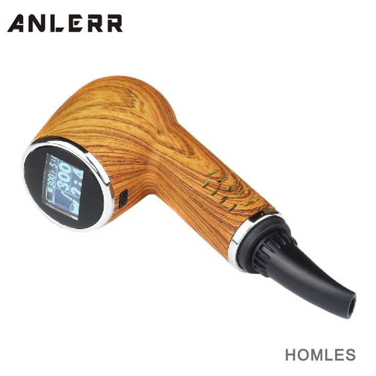 Wood Color Homles Pipe Shape Dry Herb Vaporizer Smoking Pipes from ANLERR Original Design meth vaporizer