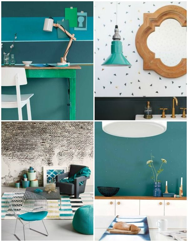 Interior color trends 2014 / Dulux Color inspiration 2014 / Paint your wall  - Teal +