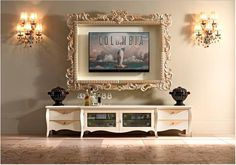 Tips on how to decorate around TV. Frame around tv.                                                                                                                                                                                 More