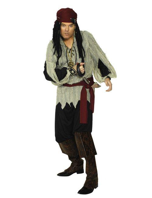 Pirat Kostüm schwarz-beige-rot, aus unserer Kategorie Piratenkostüme. Wenn sich dieser Pirat über die Reling eines geenterten Schiffs schwingt, zittern seine Gegner bereits vor Furcht. Wenn der Seeräuber seinen Säbel schwingt, kann niemand gegen ihn im Kampf bestehen. Ein großartiges Kostüm für Karneval und Piraten Mottopartys.