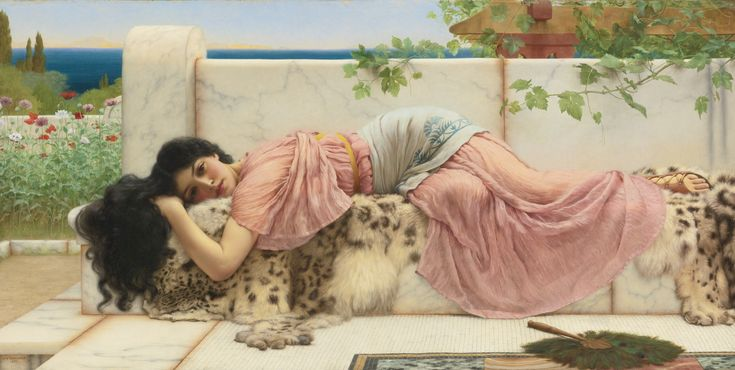 "John William Godward (English, 1861-1922), ""When the Heart is Young"""