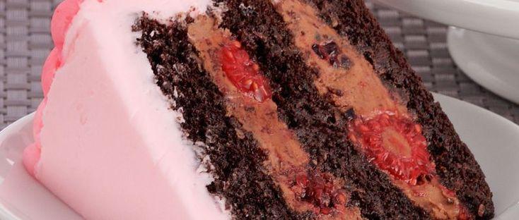 Torta de chocolate con crema de manteca italiana
