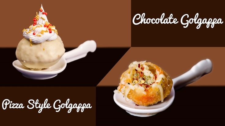 Chocolate Golgappa | Pizza Golgappa Panipuri - Quick & Easy Valentine Sp...