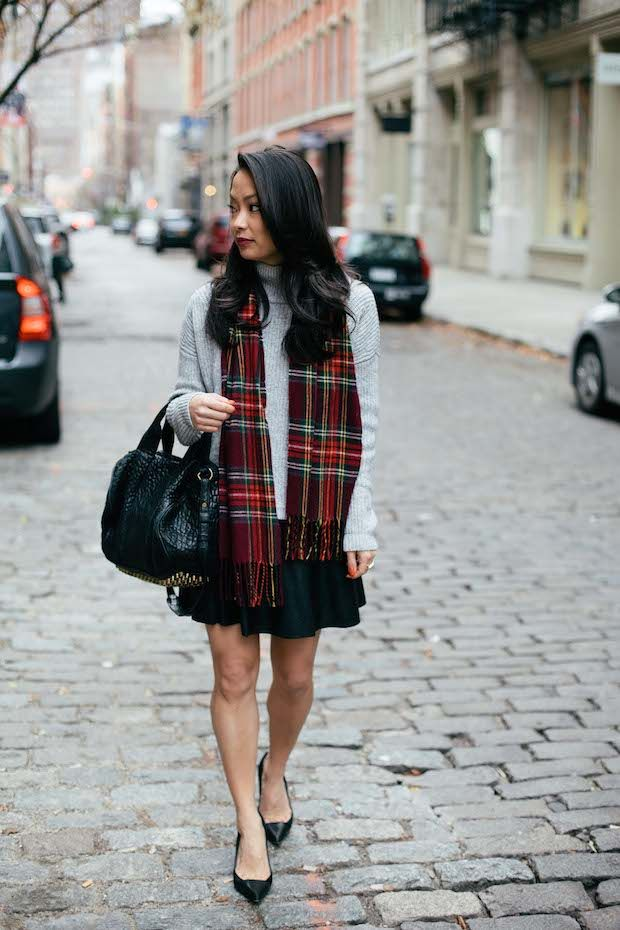 turtlenecks and leather skirts | #streetstyle #casual
