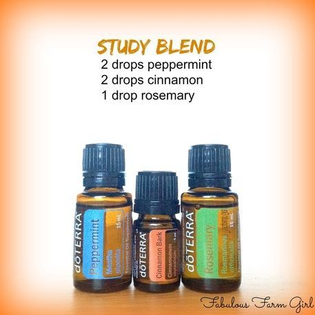 Study Blend ~ 5 Fabulous Essential Oil Diffuser Recipes by FabulousFarmGirl. Difusing essential oils does so much more than just make your house smell good.