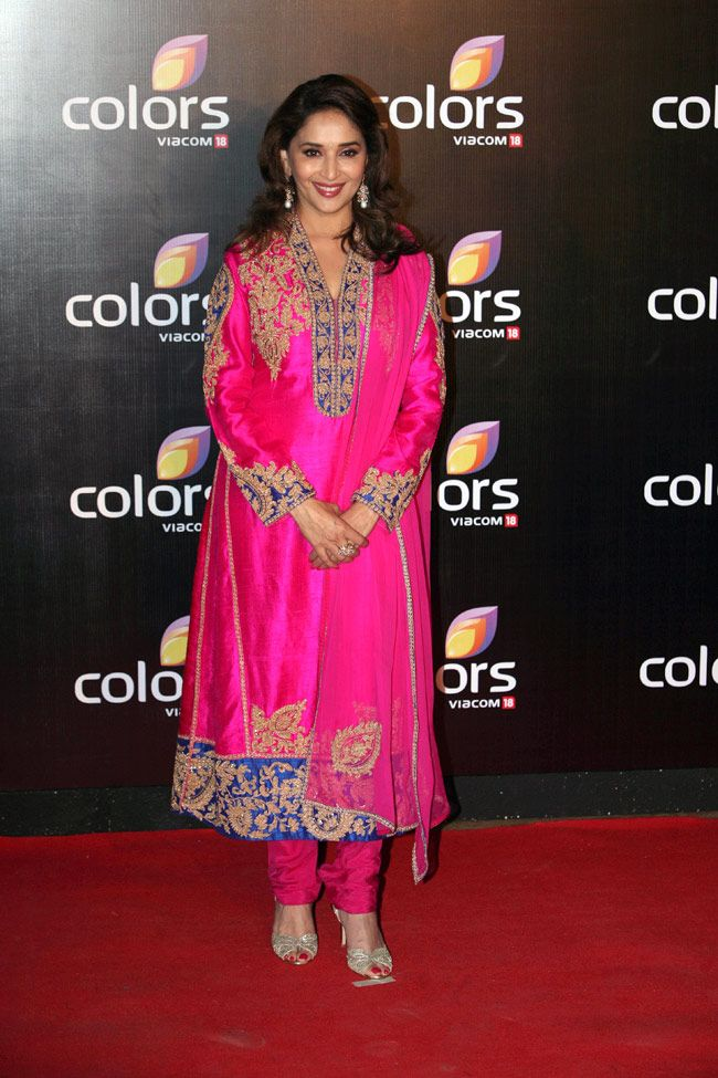 Madhuri Dixit on the red carpet Colors International Advertising Associations (IAA) Awards.