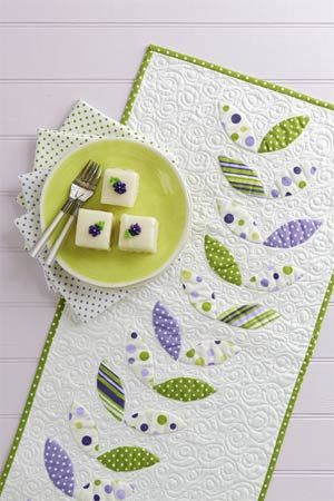 Spring-theme table runner.