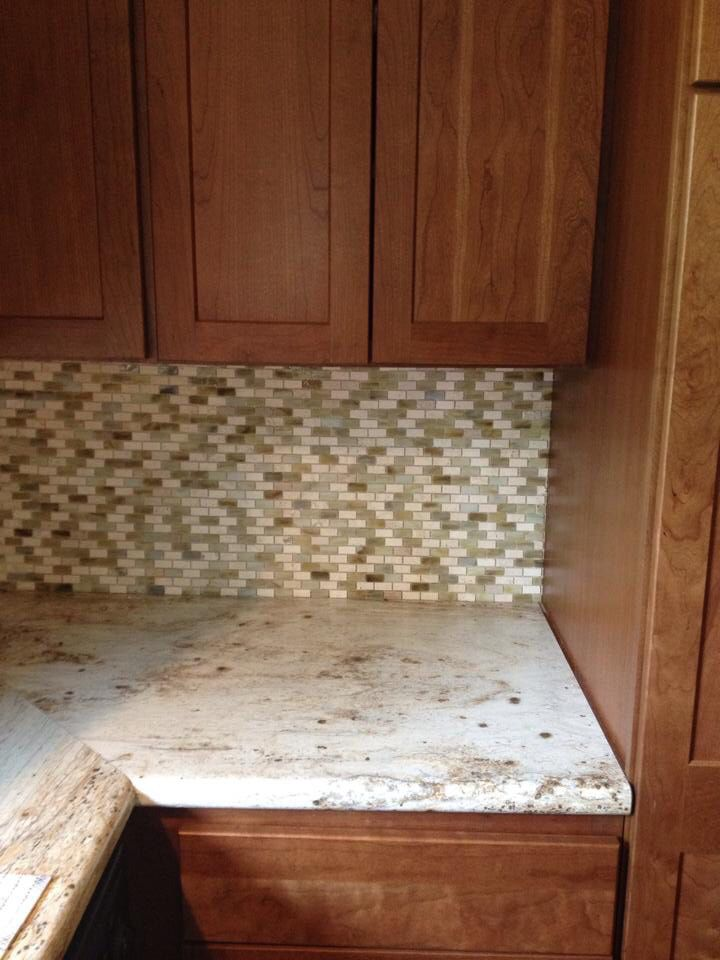 Schrock cherry cabinets in chestnut stain, Formica in ...