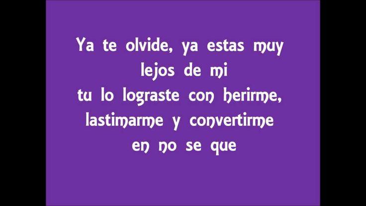Rocio Durcal- Ya te olvide (letras)