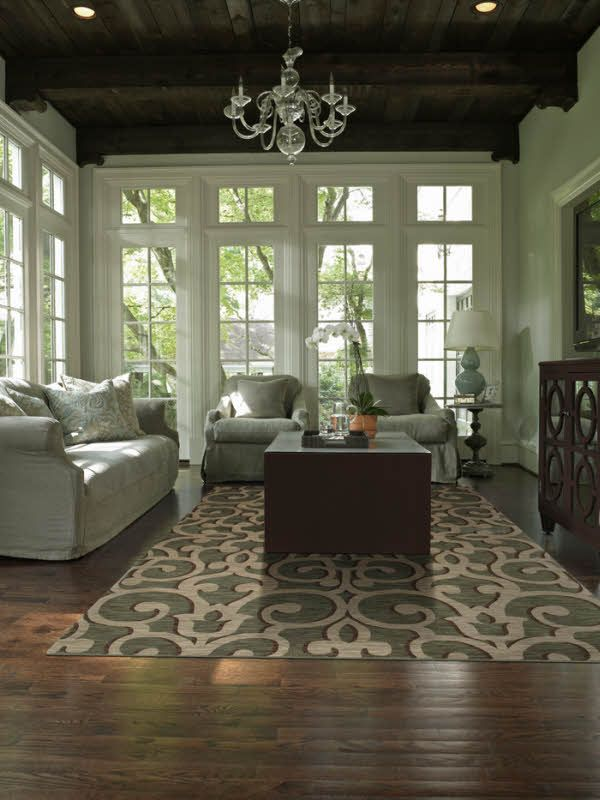 "Area Rug in the Tommy Bahama Home Collection in style ""Island Lattice"" - by Shaw Floors / Love this room!"