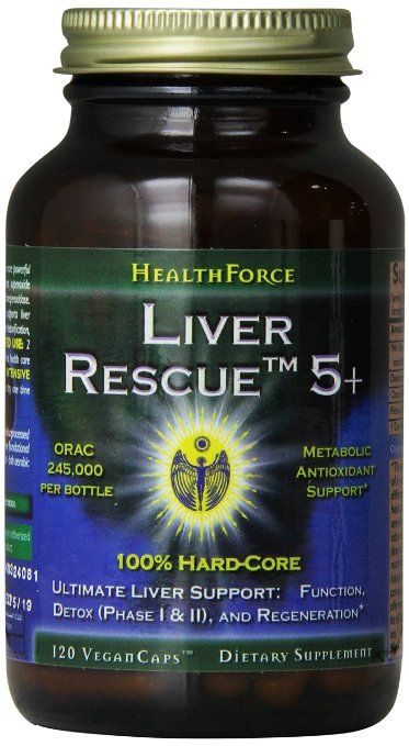 Healthforce Liver Rescue 5+, 120 Count   Green smoothie