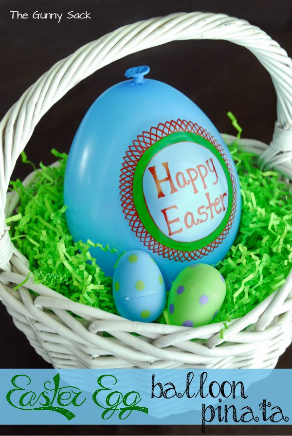 Easter Basket Filler Idea: Balloon Egg Piñata These are so clever and not just for Easter!!