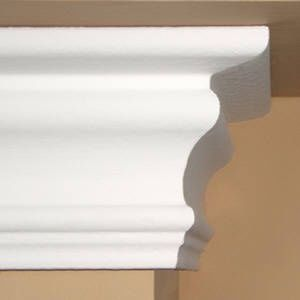 $1.45 per ft.  - 4.5 Inch flat back foam crown moldings - Stronger than would. Crown Molding Solutions