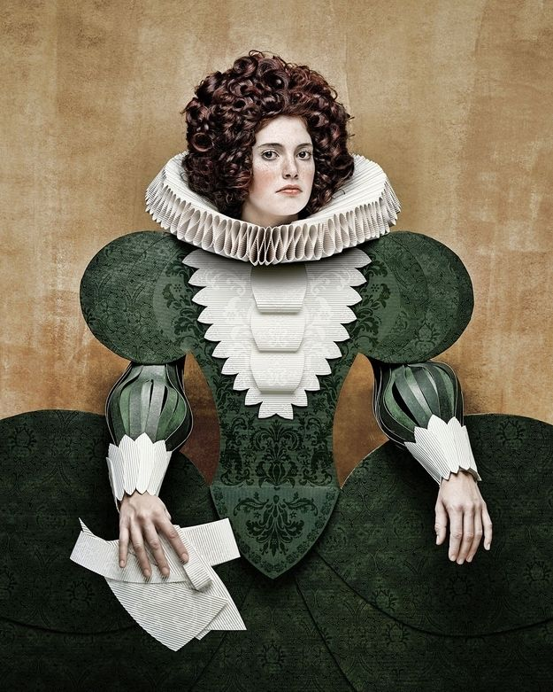 cardboard outfits by Swiss-Italian photographer Christian Tagliavini