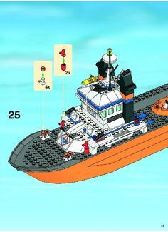 City Coast Guard - Coast Guard Patrol Boat and Tower [Lego 7739]