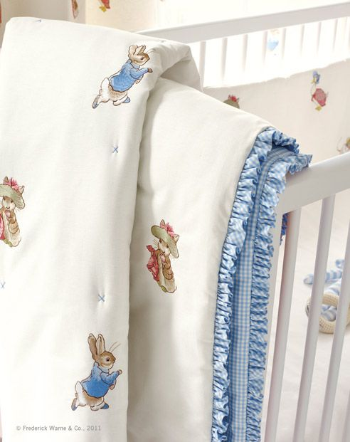 Beatrix Potter Fabric, luv trim