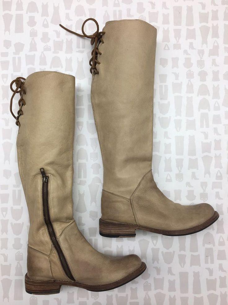 Bed Stu Womens Tan Cream Beige Manchester Riding Boots Size 8.5    eBay