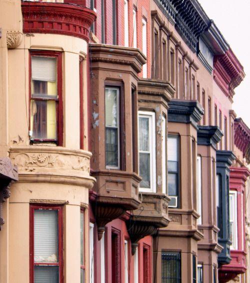 Houses in Bedford-Stuyvesant, Brooklyn.                                                                                                                                                                                 More