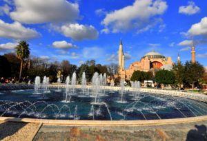 Sultanahmet Parkı'ndan muhteşem Ayasofya manzarası...