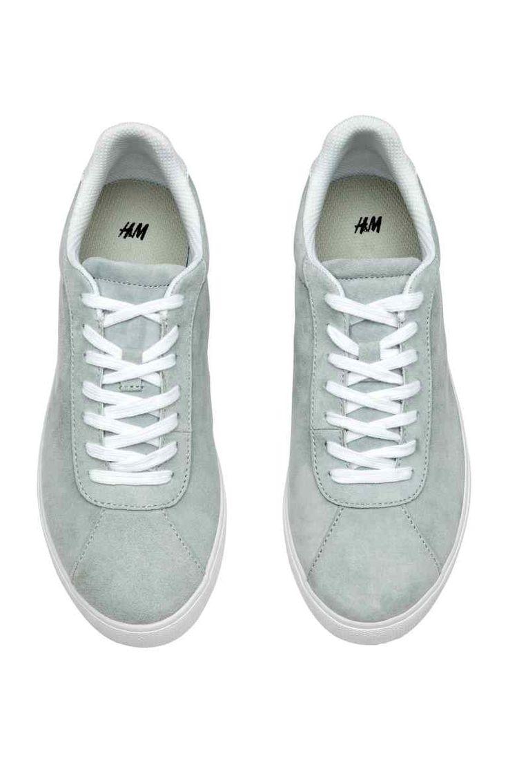 Замшевые кеды - Светло-серый - Женщины | H&M RU