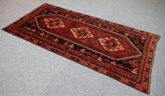 4 x 8 Shiraz Persian Läufer orientalische antik Vintage