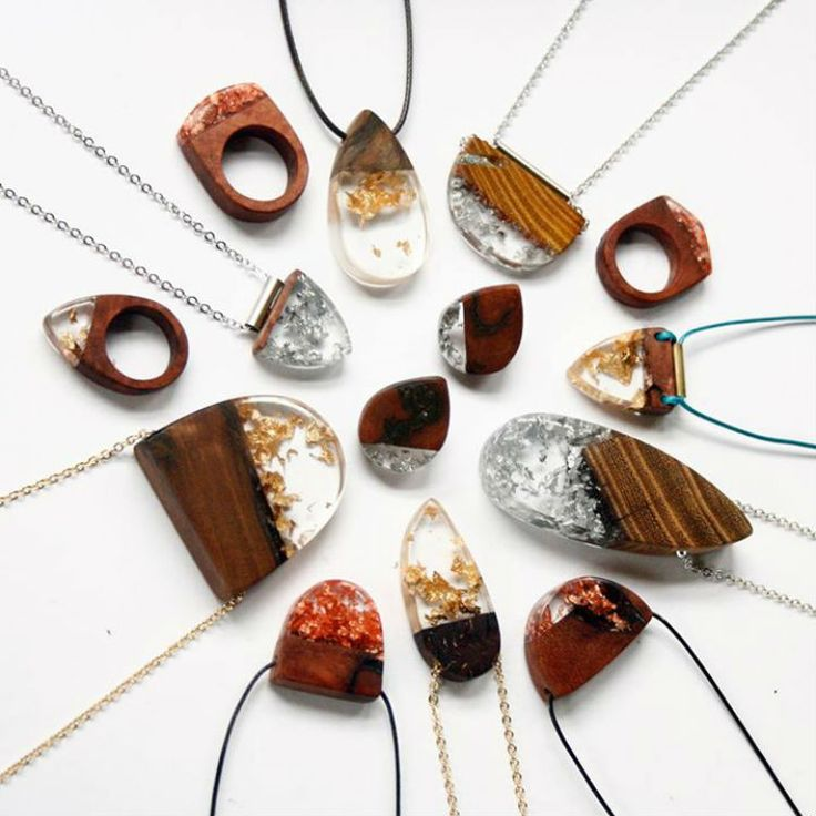 how to make glow and wood jewelry | Make a Statement With Wood and Resin Jewelry | Lost in Internet