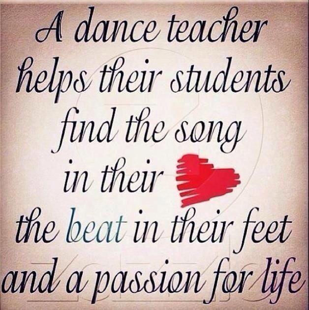 Definitely how Michele feels about her dance teacher!!