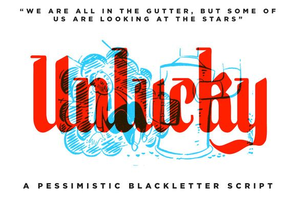Unlucky - BlackLetter Font by RetroSupply Co. on Creative Market