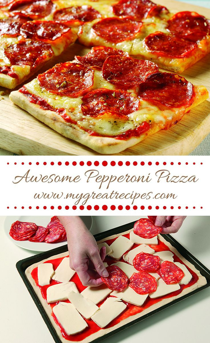 Homemade #pizza smothered with melted #mozzarella and sliced spicy #pepperoni you'll never order take-out again!