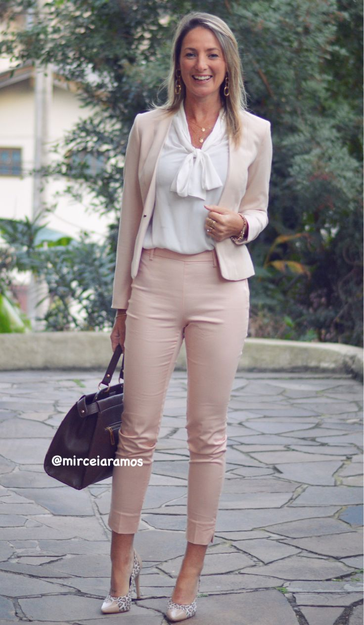 Look de trabalho - look do dia - look corporativo - moda no trabalho - work outfit - office outfit -  spring outfit - look executiva - fall outfit - calça social - tons claros - nude - clean rose