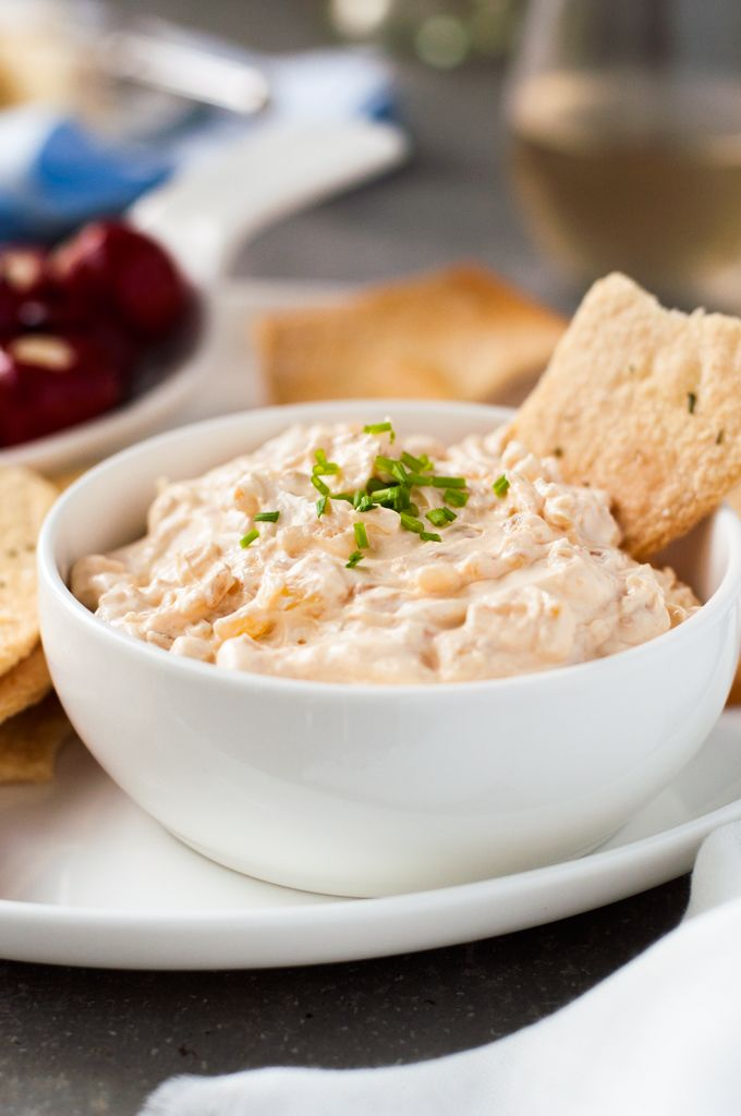 Homemade French Onion Dip - Barefoot Contessa's simple recipe is insanely good. Even the best store bought will never compare!