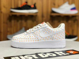 the latest 2dd63 bce55 Nike Air Force 1 Three-dimensional dot White orange AT0062 001 Mens Womens  Running Shoes  runningshoes