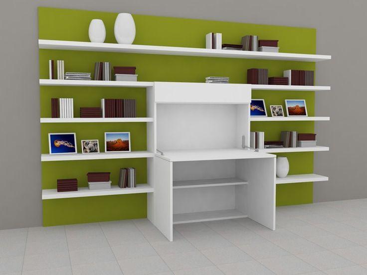 17 meilleures id es propos de meuble ordinateur sur for Meuble informatique mural