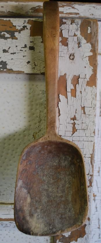 Antique Curved Hooked Ladle Spoon