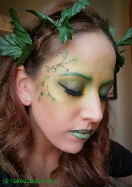Poison Ivy themed Halloween look @makeupbyblorenzo