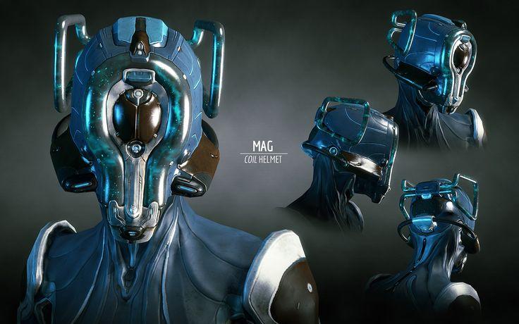 Warframe character helmets mag