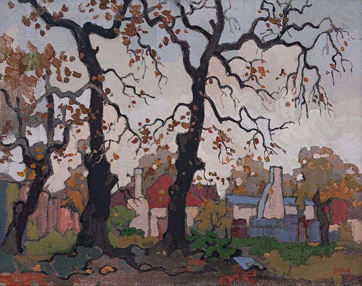 Three Bare Oaks, Autumn, Newlands', 1969 - Gregoire Boonzaier
