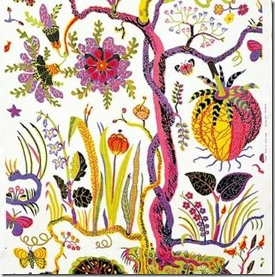 Adore this Josef Frank fabric...too die for! look at those colors! Love.