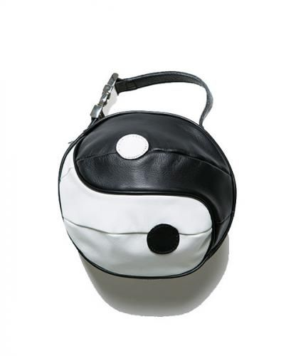 YING YANG LETHER BALL BAG