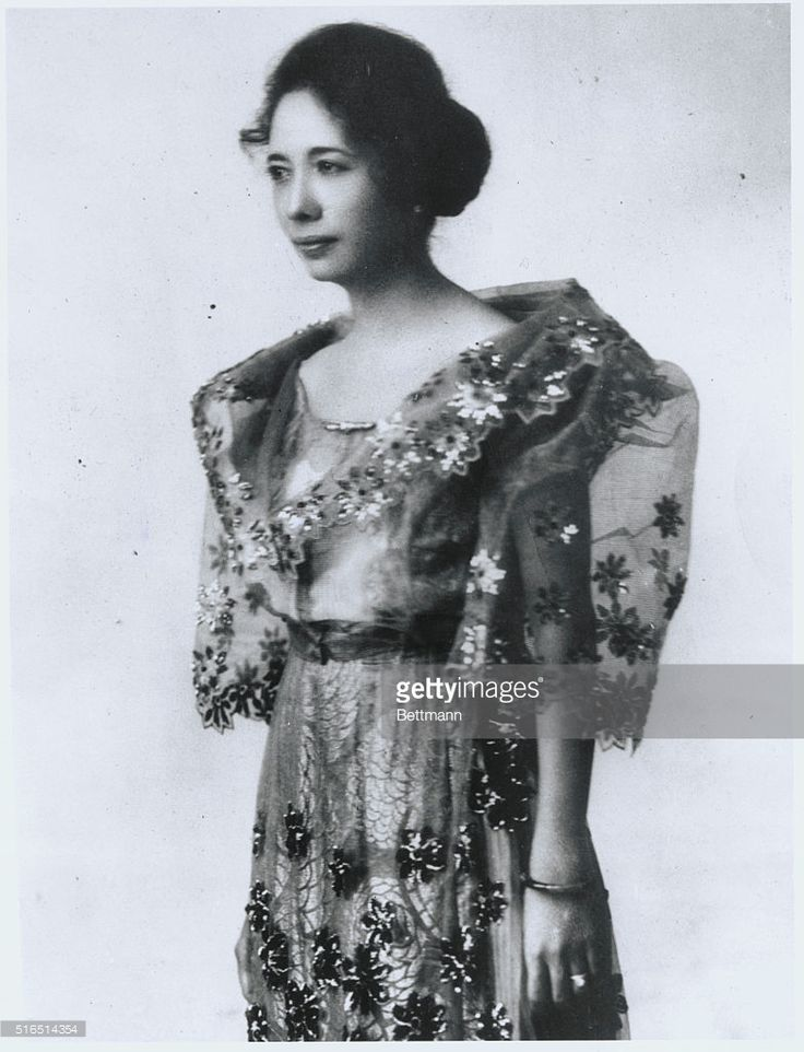 Probable 'First Lady' of the Philippines. To Mrs. Manuel Quezon (above), wife of the Senate President of the Philippine Islands, may fall the title of 'First Lady' of the islands. It is probable that Quezon may become President of the Philippines since the islands were offered their independence by the United States.