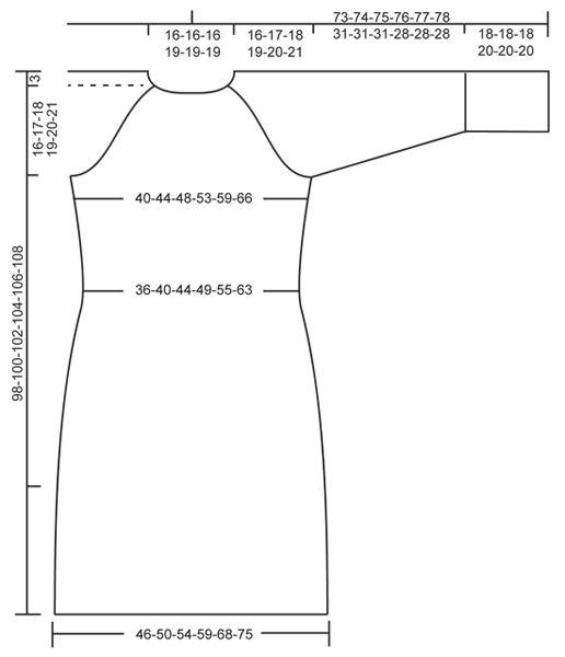 Von oben nach unten gestricktes DROPS Kleid in Nepal mit Raglanärmeln, Zopfmuster und Strukturmuster. Größe S - XXXL.