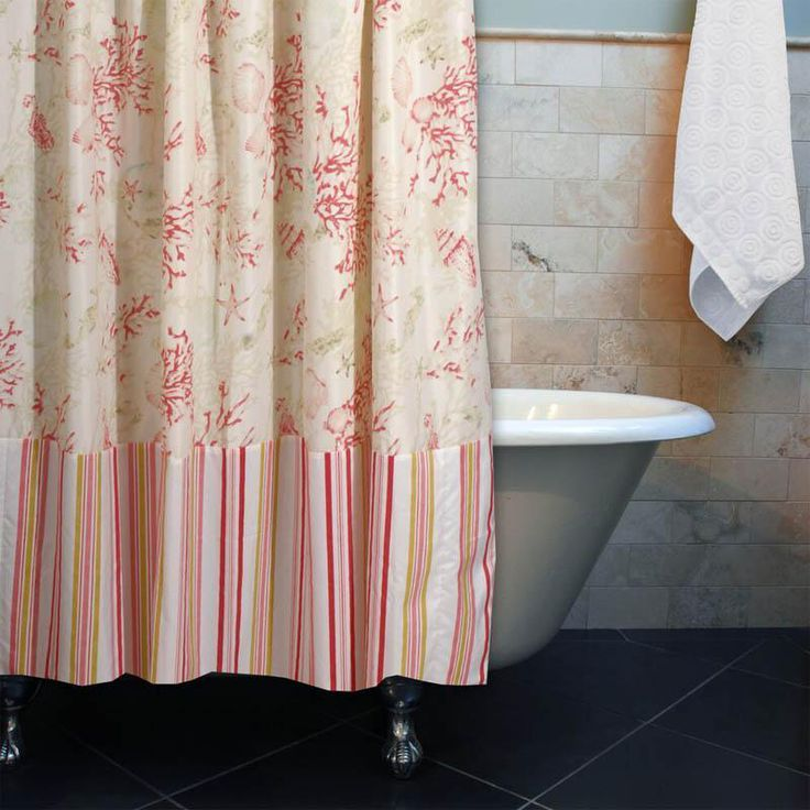 Best 25+ Coral Shower Curtains Ideas On Pinterest