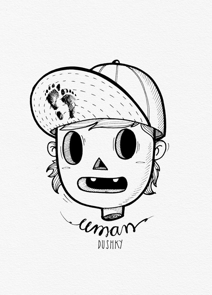 illustration by #dushky | #art #drawing #illustration #sticker #design #monster #creature #boy #streetart #umanshop #cool