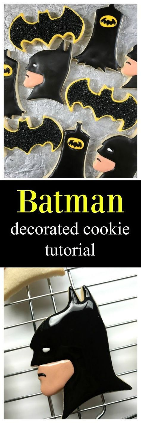 Batman Decorated Cookie Tutorial