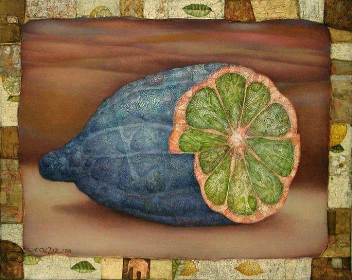 Синий лимон и розовый слон