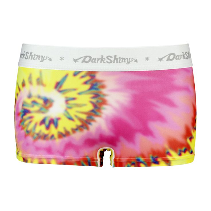 Tie dye/タイダイカラー/ピンク&イエロー/レディースボクサーパンツ/DARK SHINY (ダークシャイニー) , レディース ファッション アンダーウェア インナー ルームウェア ショーツ #darkshiny #ladysfashion #boxerbrief #underwear