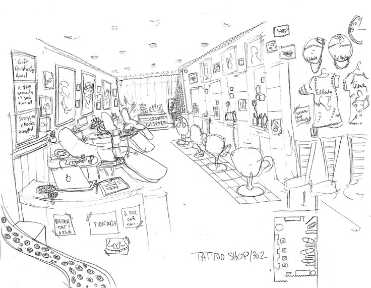 A nail salon turns into a tattoo shop in 24 hours when we lost our original location.