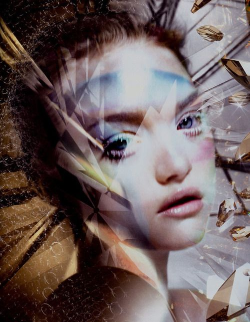"""""""Knight Vision"""", Gemma Ward photographed by Nick Knight for Big #67"""