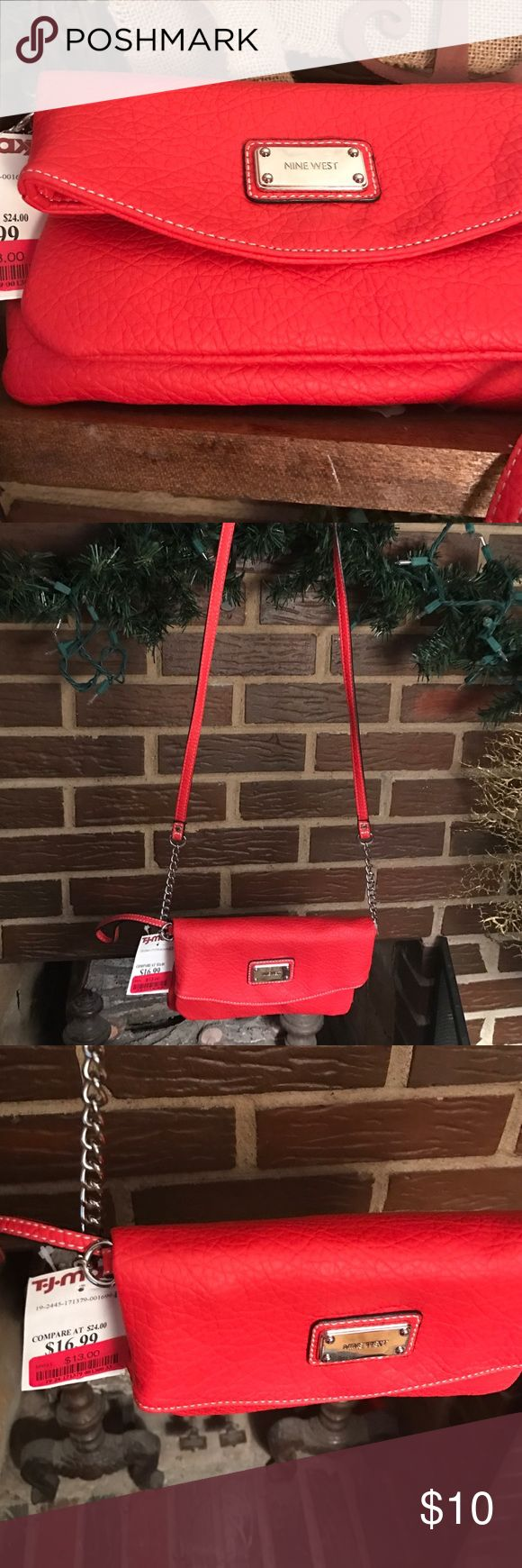 Women crossbody Handbag! Red NineWest women cross body. Brand New never worn. Nine West Bags Crossbody Bags
